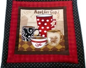 Coffee Pot Holder, Pot Holder, Coffee Hot Pad, Hot Pad, Hostess Gift, Wedding Gift, Housewarming Gift, Fabric Pot Holder