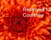 Reserved for Courtney