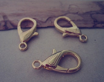 10pcs gold color lobster Clasps 15mmx30mm