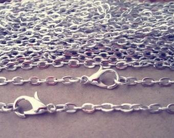 """10pcs  70cm Silver color """"0"""" shape  Link  chain 3mmx4mm"""