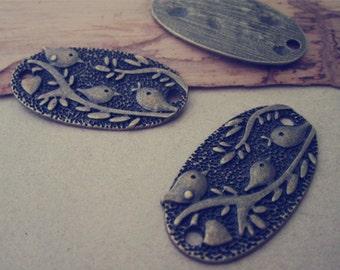 10pcs antique bronze Bird pattern Pendant Charms 20mmx37mm