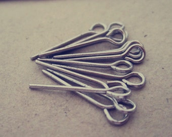 300 pcs White K eye pins 16mm