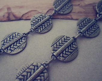 3.28ft Antique bronze Metal  Round Chain Necklace Chain  17mm