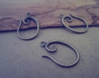 10pcs 10mmx18mm antique bronze (copper) ear hooks Earrings accessories