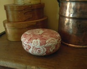 Burleigh Victorian Chintz, red and white trinket box
