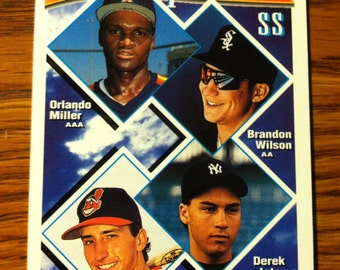 DEREK JETER 1994 ROOKIE Topps Prospects New York Yankees Baseball Vintage Card Nice!