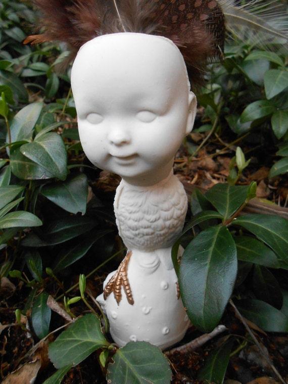 Baby Bird Feathered Ceramic Figurine II