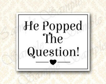 Accomplished image for he popped the question printable