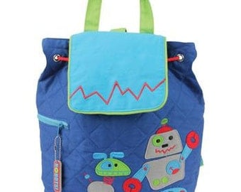 Personalized Stephen Joseph Robot Backpack, Diaper Bag with FREE Embroidery