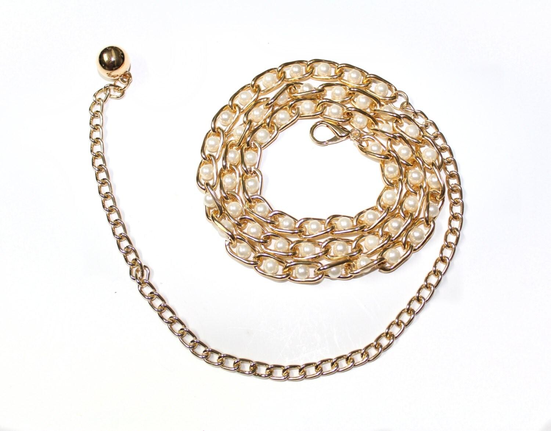 gold chain metal belt for dress tunics top etc