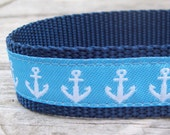 Anchors Away  Dog Collar 1 inch wide
