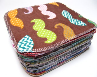 Reusable Cloth Wipes, Family Cloth, 40 Neutral Mixed Set, Cloth Diaper Wipes, Family Cloth