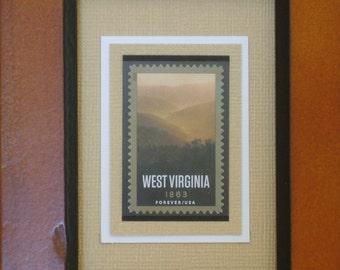 West Virginia Forever - Framed Postage Stamp - No. 4790