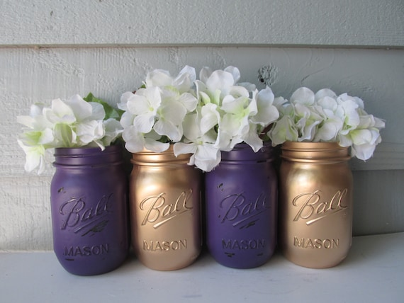 Items similar to painted and distressed ball mason jars