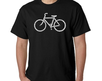 Men's T-shirt - Created using the word Save a Planet, Ride a Bike