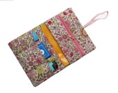 Tobacco pouch, smoke pouch,  pink flower