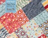 Topsy Turvy PDF Lap Quilt Pattern, Baby Quilt Pattern, Layer Cake Pattern, Beginning Quilt Pattern, Basic Easy Quick, Crib Quilt Pattern