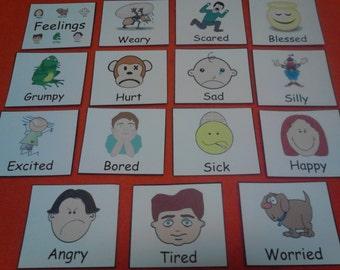 Feelings - Felt Board Pieces, Emotions, Preschool Learning, Educational Toys, Autism, Montessori Toddler, Felt Toys, Preschool Toys, Felt