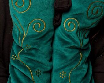 ARM WARMERS, ASSORTEd colours, REVERSIBLE Velvet, wrist warmers, fingerless gloves, HIPPy GLOVEs, VPWWSe