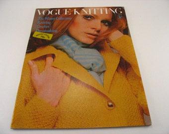 Vogue Knitting Magazine British Edition Volume 16 No. 8 Winter Collections 1969 Knitting Patterns