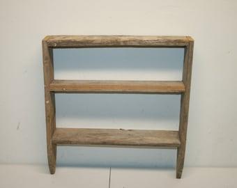 Reclaimed wood shelf wood shelf wall shelf wall wood shelf - Reclaimed wood ladder shelf ...