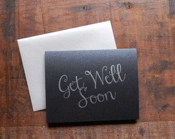 Letterpress Get Well Soon Notecard