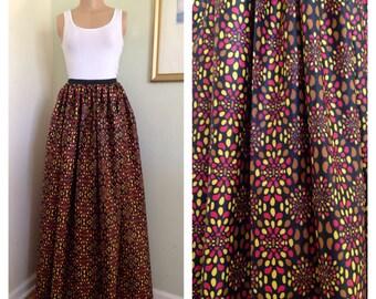 African Ankara Print maxi  Skirt with pockets for Women