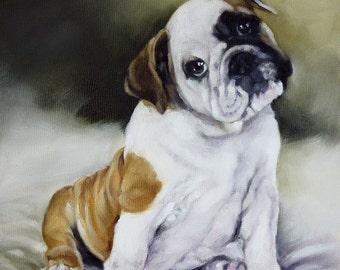 Custom Pet Portrait, Oil Painting, Pet Portrait, Portrait Commission, Animal Portrait, Dog Portrait, 8x8