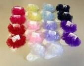 Ruffle socks - sheer organza extra full ruffle - many colors available