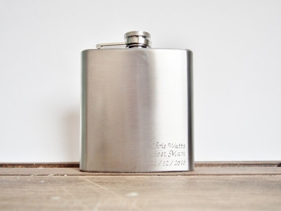 Best Man Hip Flask - Personalized Wedding Gift, fathers day, father of the bride,