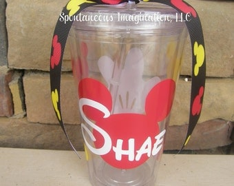 Mickey Themed Personalized Acrylic Tumbler - Mickey Mouse