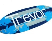 Teen Room Decor - Personalized Surfboard Wall Hanging for your Boys Bedroom Decor
