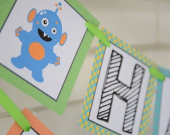 Little Monsters Birthday banner, Monster birthday, Monster banner, Little Monster, Little Monsters, party, Monster, party, 1st birthday
