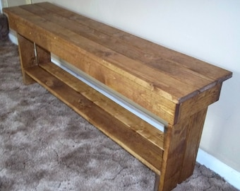 Rustic Wood  Bench , Seating , 48 inch Bench , Seat, Sofa Bench , Furniture