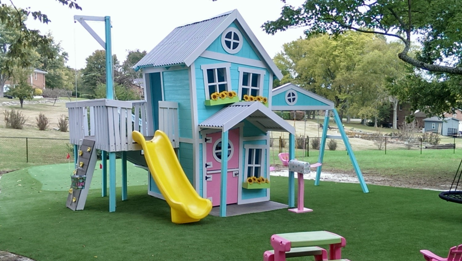 Dollhouse Playset With Swing Beam Two By Imaginethatplayhouse