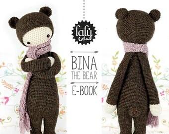 BINA the bear • lalylala crochet pattern / amigurumi