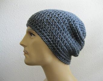 Crochet Beanie - Slouchy Beanie - Beanie Hat - Crochet Slouchy Beanie - Mens Hats - Crochet Beanie Hat - Crocheted Beanies - Beanie Hats