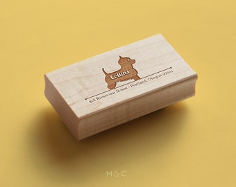West Highland Terrier - Personalized Address  Stamp