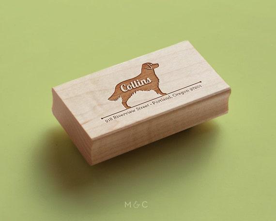 Golden Retriever - Personalized Address Stamp