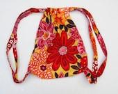 small drawstring bag, drawstring backpack, kids backpack, backpack girls, small backpack, toddler backpack, kids bag by greenbugmarketplace
