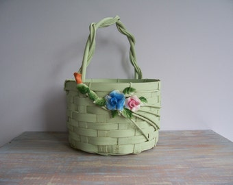 Shabby basket- Free Shipping