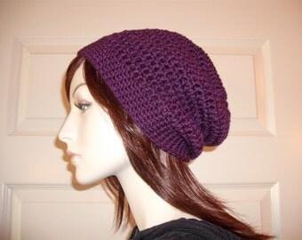 Purple Slouchy Beanie, Teens Slouchy, Womens Slouchy, Plum Slouchy Beanie, Purple Hats, Fall Winter Hats, Eggplant Beanies, Hippie, Boho