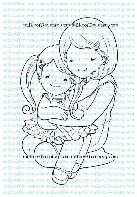 Digital Stamp Mom's hug