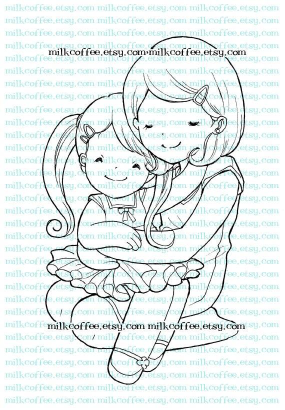 Digital Stamp Mom's hug