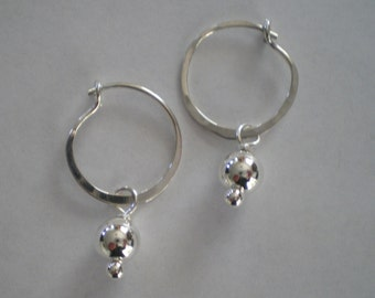 Handmade Sterling Silver Hoop Earrings