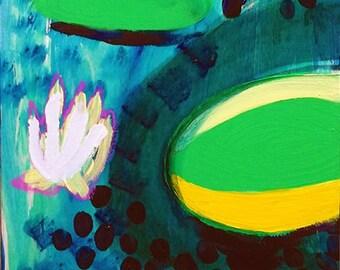 Water Lilies Original Painting