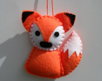 Felt Animal Ornament - Felt Fox Ornament