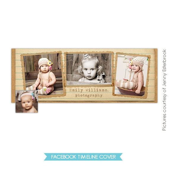 INSTANT DOWNLOAD - Facebook custom timeline cover - Photoshop template - E348