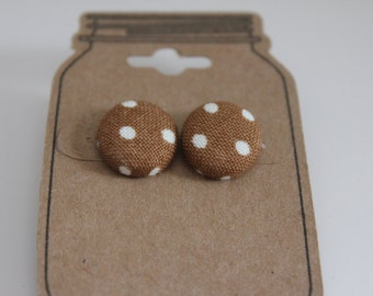 Post Button Earring