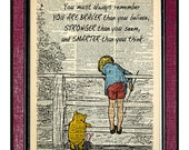 WINNIE The POOH 2 Book Art Wall Hangings Illustration Wall Decor Pooh Drawing Kids Art Print Digital Illustration Kids Wall Art